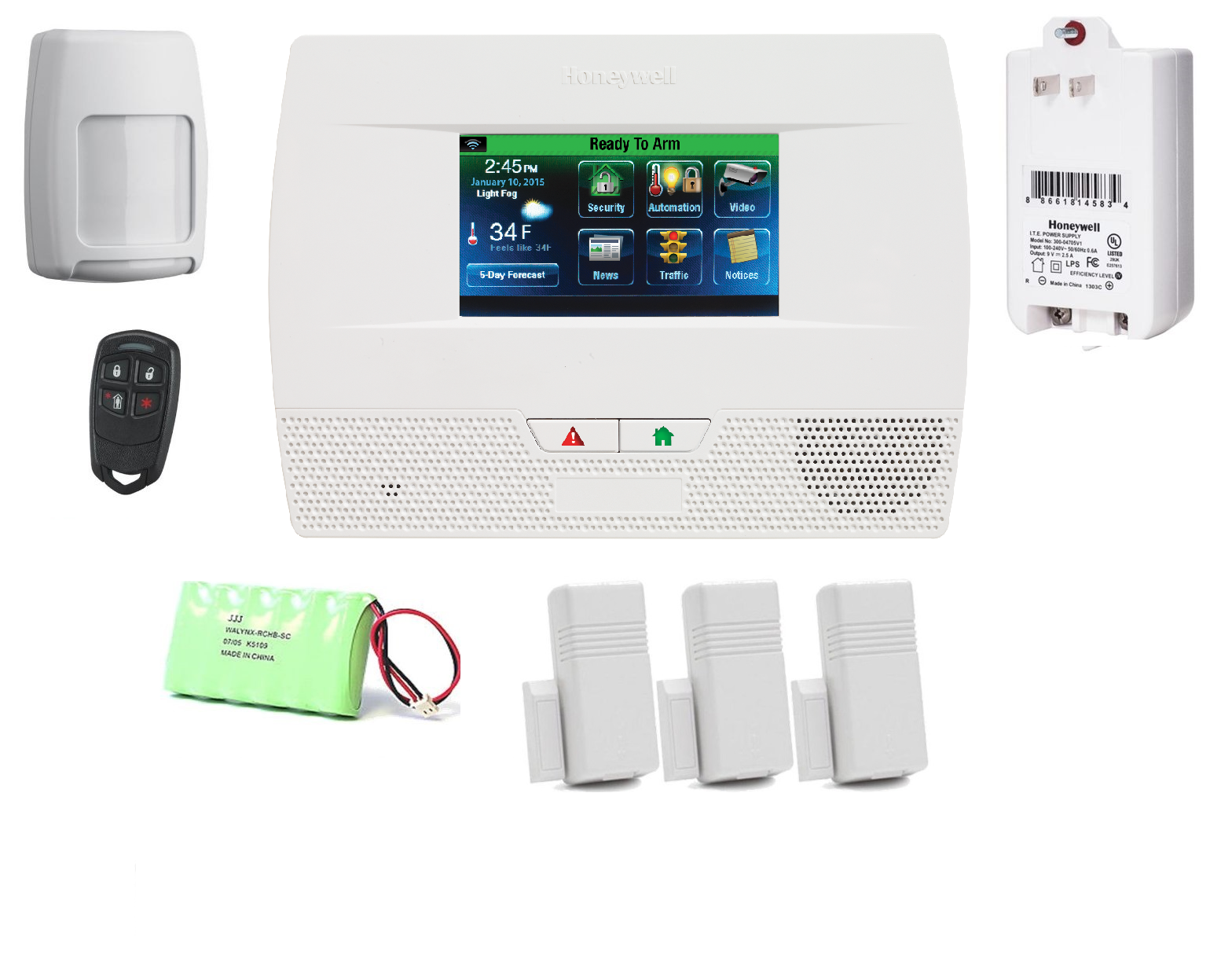L5210PK-Honeywell Lynx Touch L5210 Security Alarm System