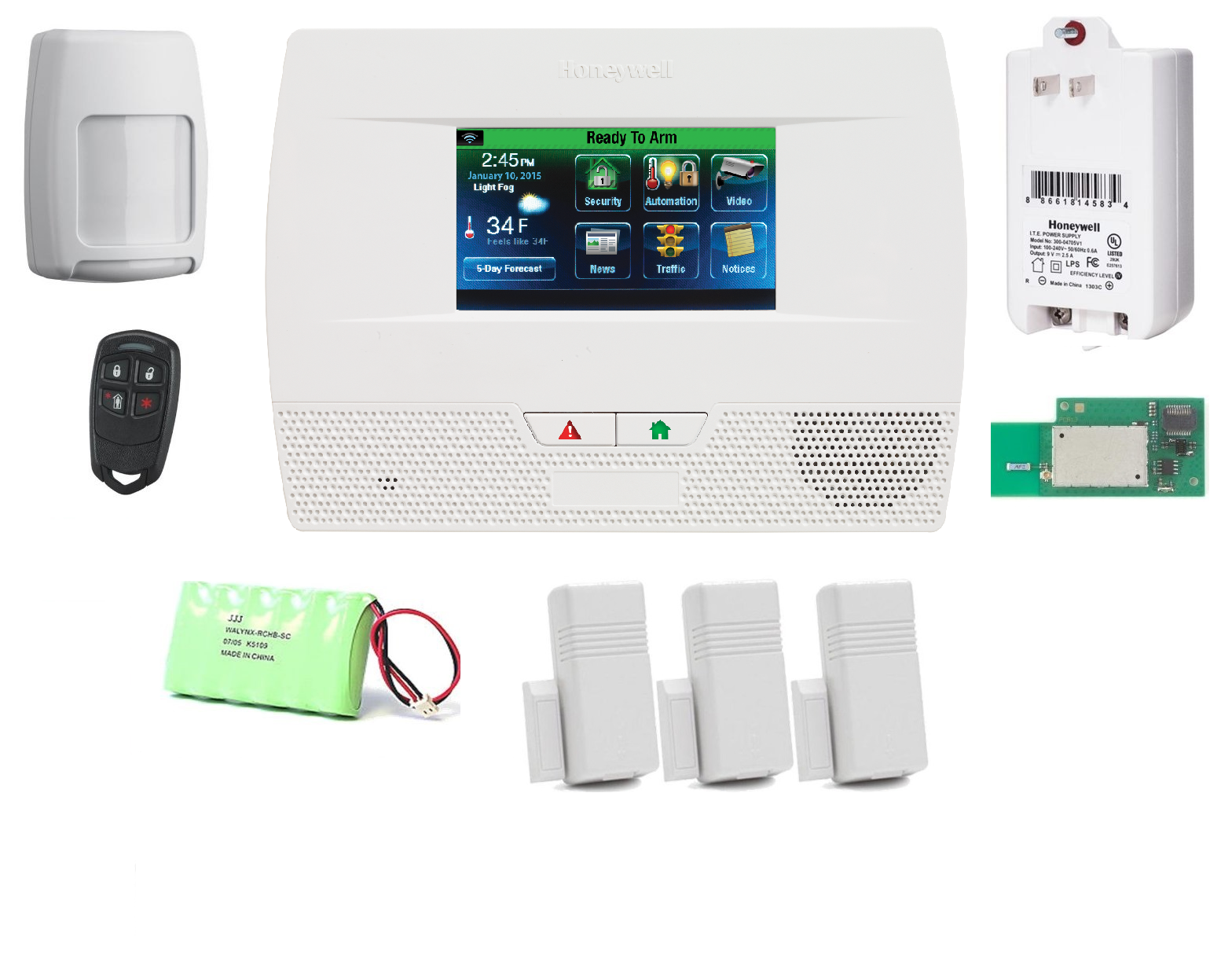 Honeywell L521wf Kt1 L5210 Alarm Kit Wifi Advanced