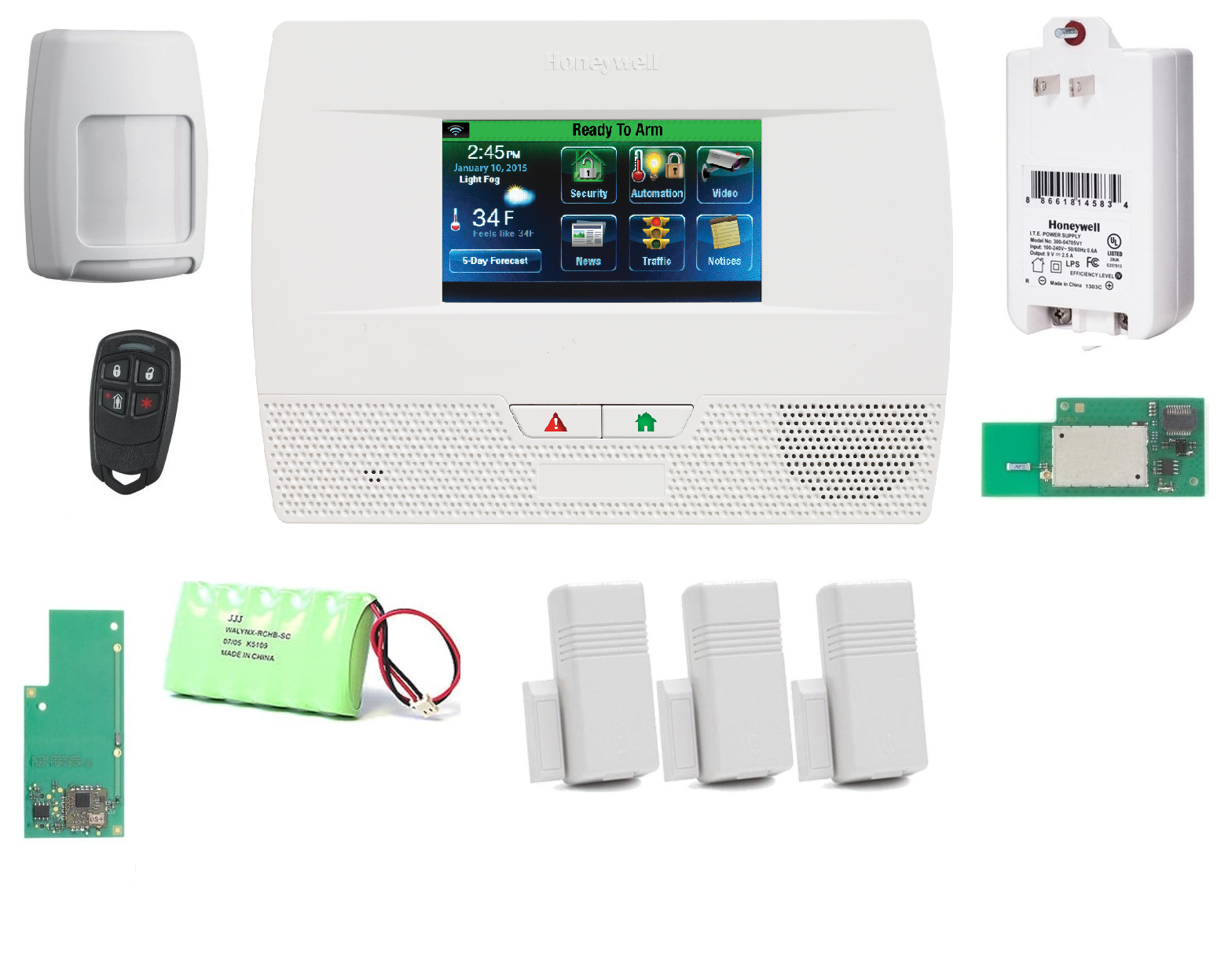 L521WF-KT1-Zwave-Honeywell Lynx Touch L5210 WiFi Security Alarm System with Zwave