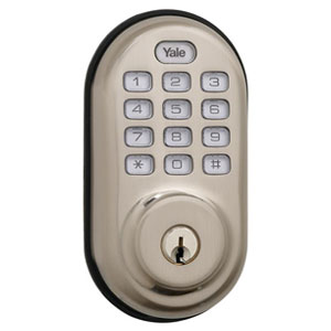 Yale-YRD210ZW619-Z-Wave-Push-Button-Deadbolt-Lock--Nickle