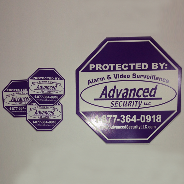 Advanced Security Sign Sticker 3 Pack Advanced Security Llc