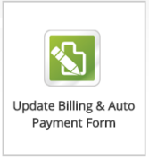 Update Billing & Auto Payment Form
