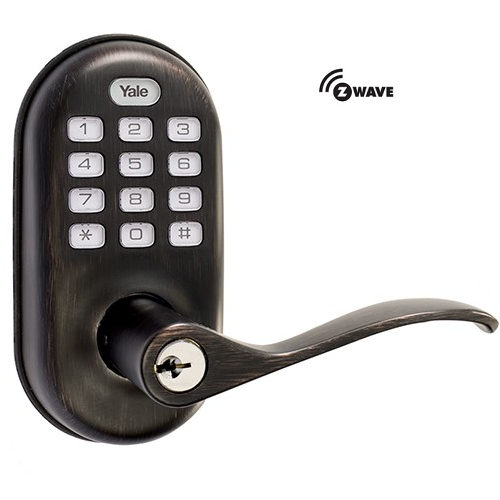 Yale YRL210ZW0BP Z-Wave Push Button Lever Lock