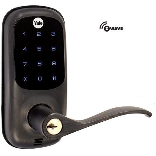 Yale YRL220ZW0BP Z-Wave Touchscreen Lever Lock