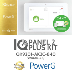 Qolsys QK9201-AK2C-840 IQ Panel 2+ 2-1 Kit (Verizon, LTE, PowerG, 319 MHz, S-Line)