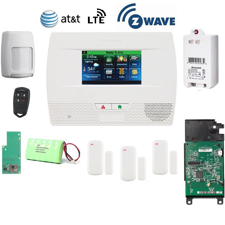 Honeywell L5210PK-LTE-A-Zwave Lynx Touch L5210 Alarm Kit