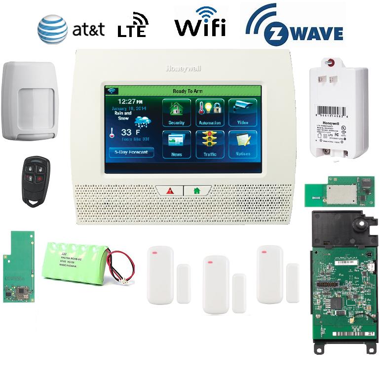 Honeywell L70WF-KT8-Zwave & LTE-A Lynx Touch L7000 Alarm Kit