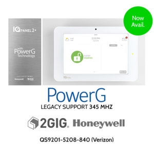 Qolsys QS9201-5208-840 IQ Panel 2 PLUS PowerG Verizon LTE