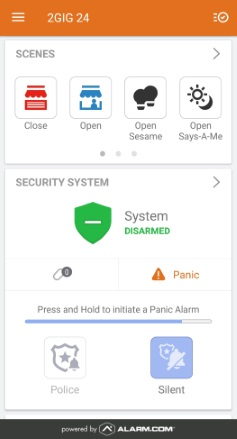Alarm com In-App Trigger a Panel Panic Feature - Advanced