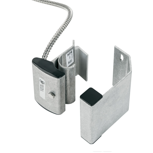 Interlogix 2315A-L Overhead/Panel Door Track Mount Contact w/Armored Cable