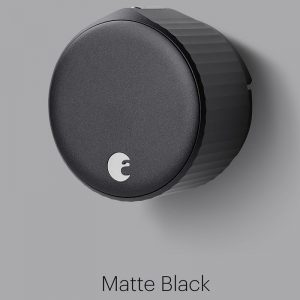 August Wi-Fi Smart Lock- Matte Black