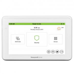 """The Honeywell Home TUXEDOW 7"""" Tuxedo Touch® Security and Smart Controller is an innovative color touchscreen keypad with smart control that allows users to control"""