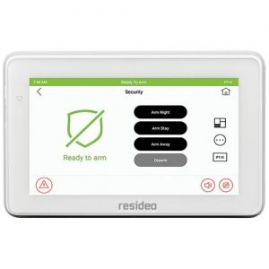 """Resideo 6290WC 7"""" Color Graphic Touchscreen Keypad"""