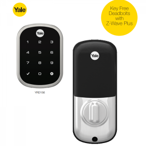 Yale YRD156-ZW2-619 TouchScreen Deadbolt Z-Wave Lock-Satin Nickel