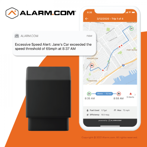 Alarm.com Connected Car GPS Add-On Service